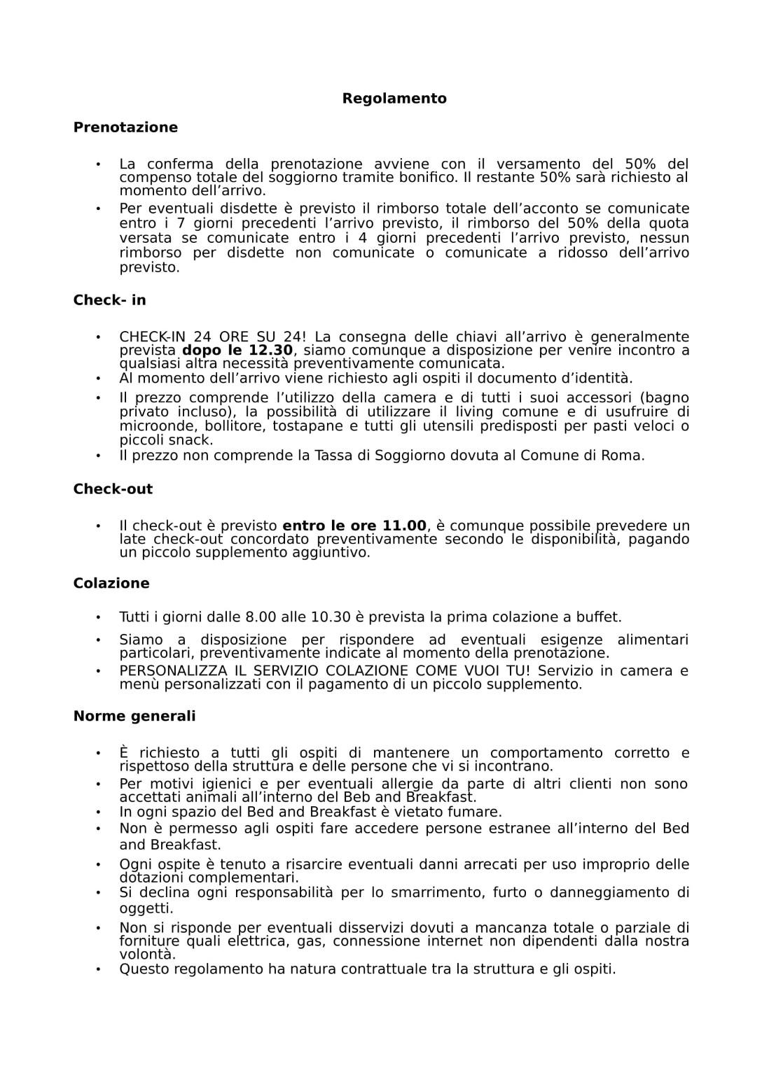 Beautiful Regolamento Tassa Di Soggiorno Ideas - Design Trends 2017 ...